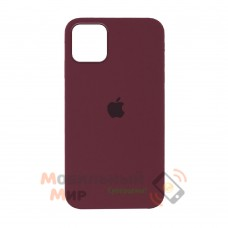 Силиконовая накладка Silicone Case Full для iPhone 13 Pro Max Marsala