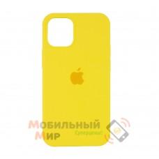 Силиконовая накладка Silicone Case Full для iPhone 13 Pro Max Canary Yellow