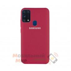 Силиконовая накладка Silicone Case для Samsung M31 2020 M315 Rose Red
