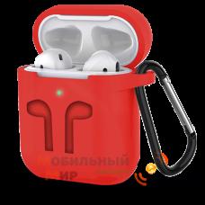 Чехол для наушников Apple AirPods/AirPods2 Red