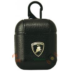 Чехол для наушников Apple AirPods/AirPods2 Leather Brandds Lamborghini