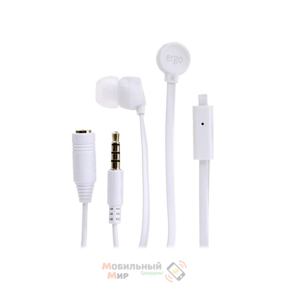 Наушники ERGO VM-901 White mic