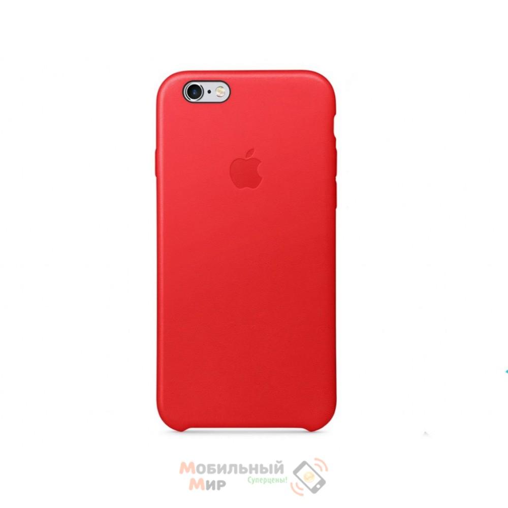 Чехол кожаный для iPhone 6/6s RED (MKXX2ZM/A)