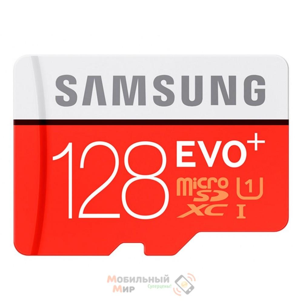 Карта памяти Samsung EVO Plus microSDXC UHS-I U3 128GB Class 10 (MB-MC128GA/RU)