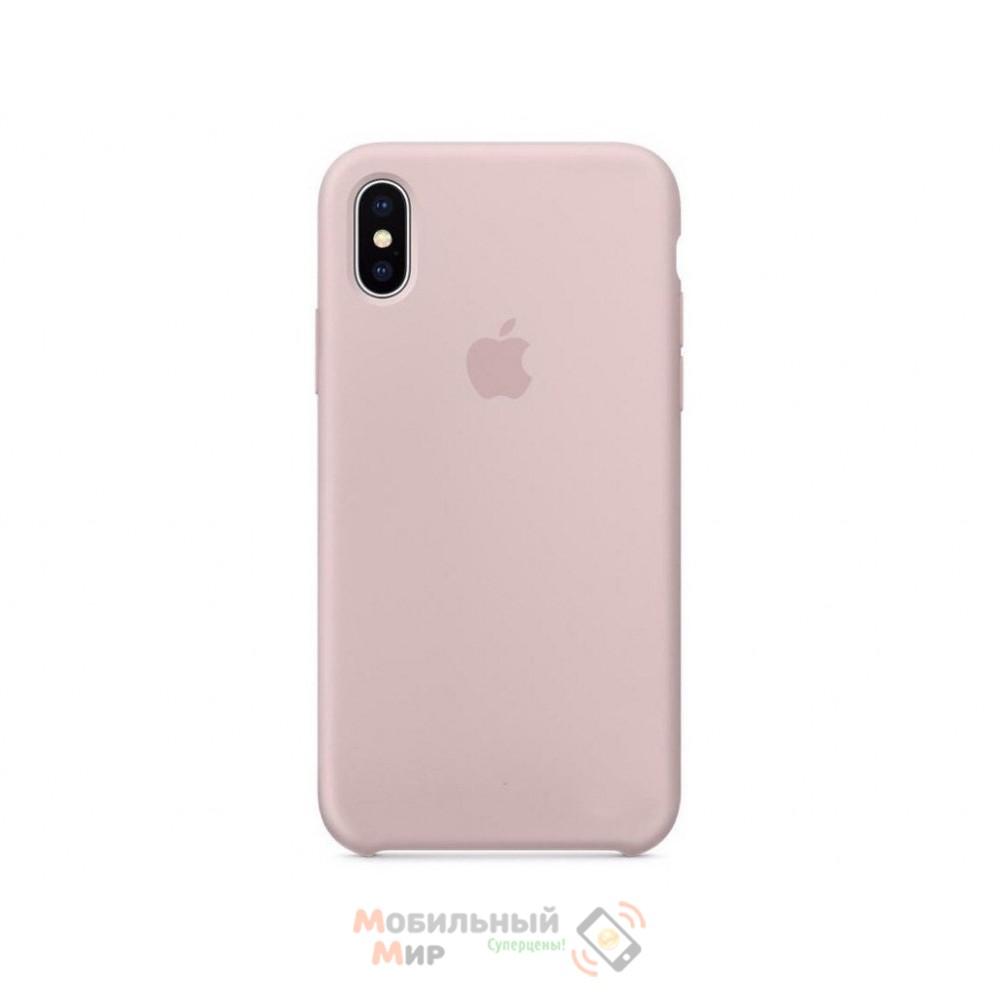 Накладка Silicone Case Original iPhone X Pudra