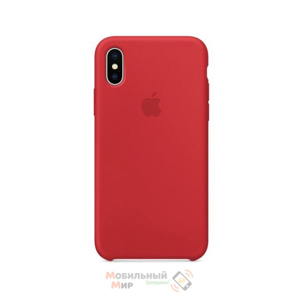 Накладка Silicone Case Original iPhone X Red