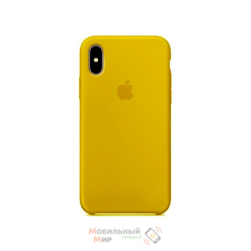 Накладка Silicone Case Original iPhone X Cream Gold