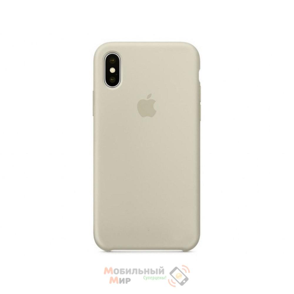 Накладка Silicone Case Original iPhone X Ivory