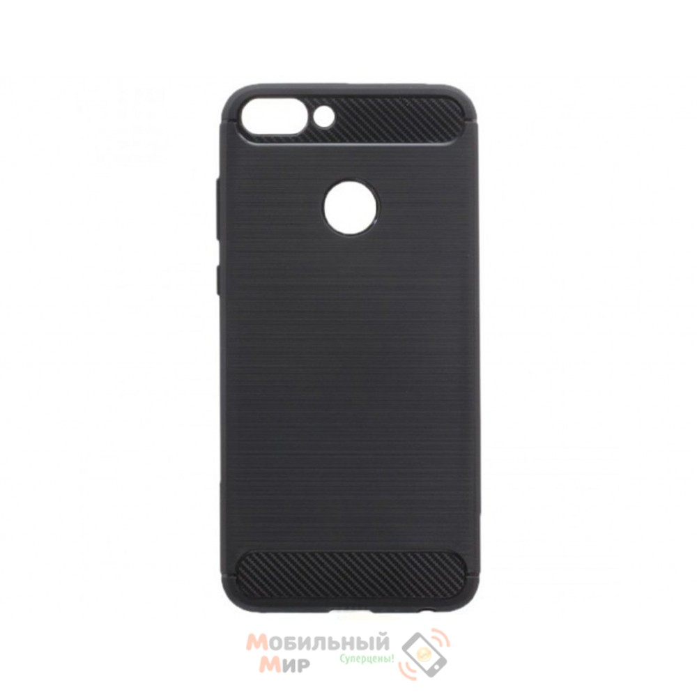 Силиконовая накладка Polished Carbon Huawei P Smart Plus Black