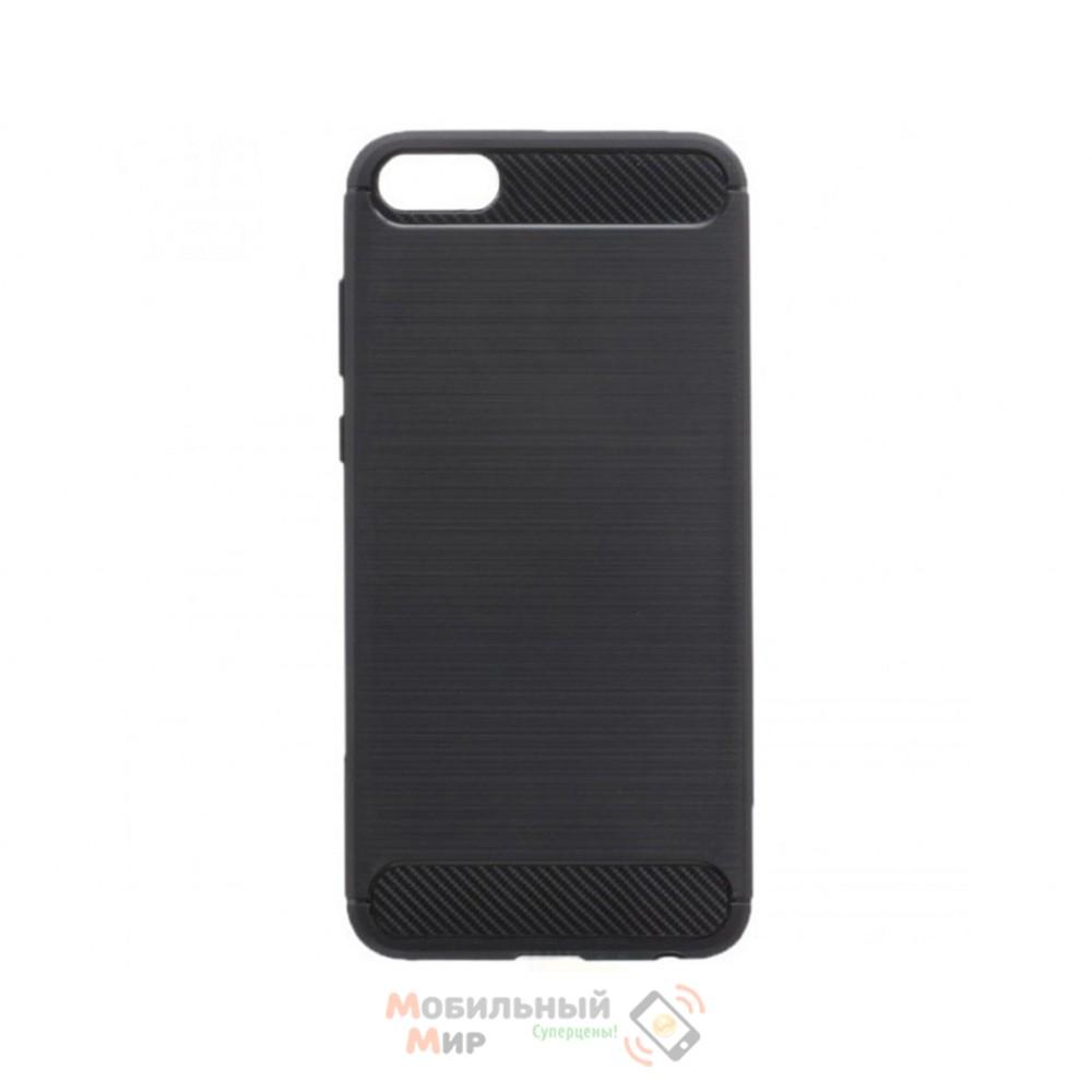 Силиконовая накладка Polished Carbon Huawei Y5 2018/ Y5 Prime/ Honor7A Black