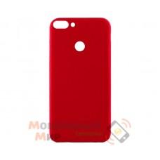 Силиконовая накладка Inavi Simple Color для Huawei P Smart Red