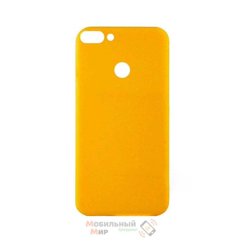 Силиконовая накладка Inavi Simple Color для Huawei P Smart Yellow