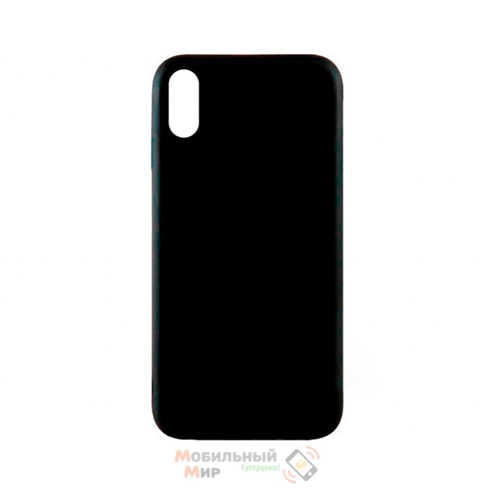 Силиконовая накладка Inavi Simple Color для iPhone XS Black