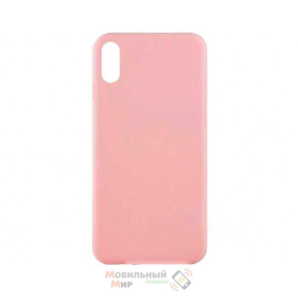Силиконовая накладка Inavi Simple Color для iPhone XS Max Peach