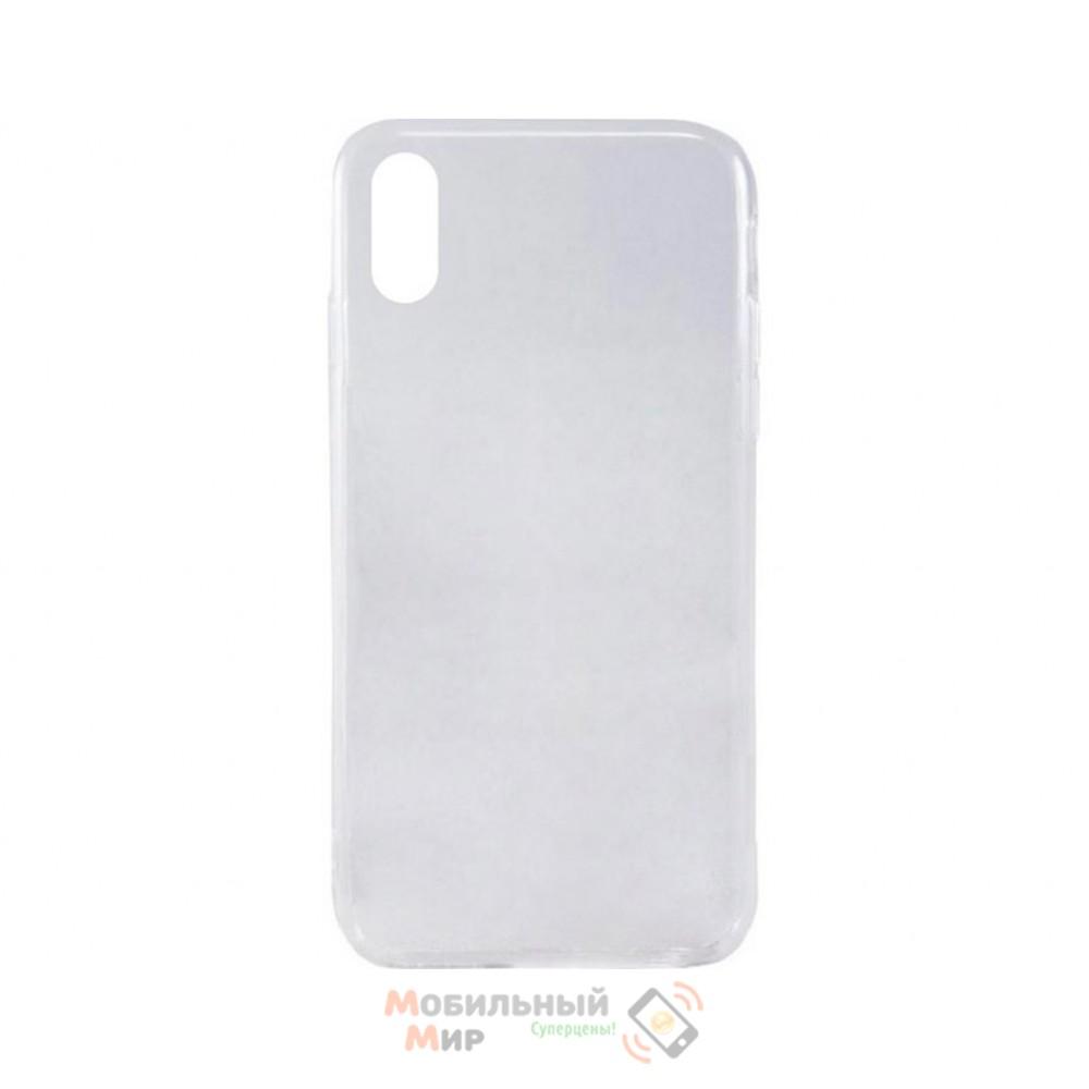 Силиконовая накладка Inavi Simple Color для iPhone XS Transparent