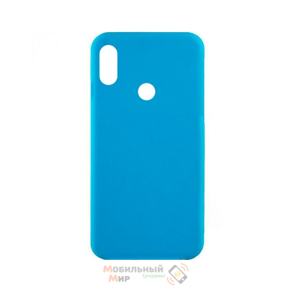 Силиконовая накладка Inavi Simple Color для Xiaomi Redmi 6 Pro/ Mi A2 Lite Blue