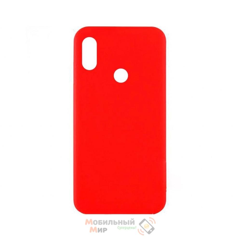 Силиконовая накладка Inavi Simple Color для Xiaomi Redmi 6 Pro/ Mi A2 Lite Red