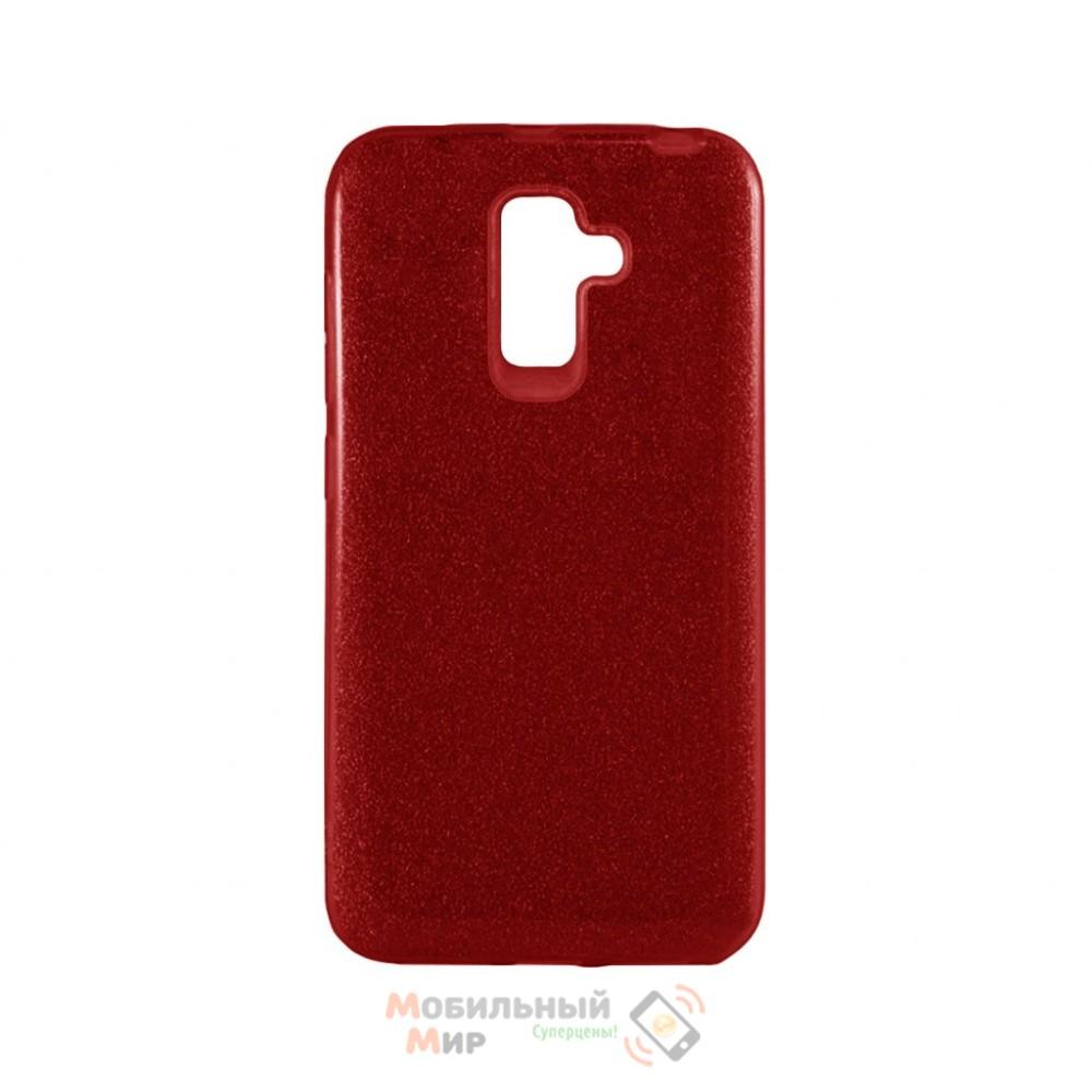 Силиконовая накладка Shine для Samsung J8 2018 J810 Red