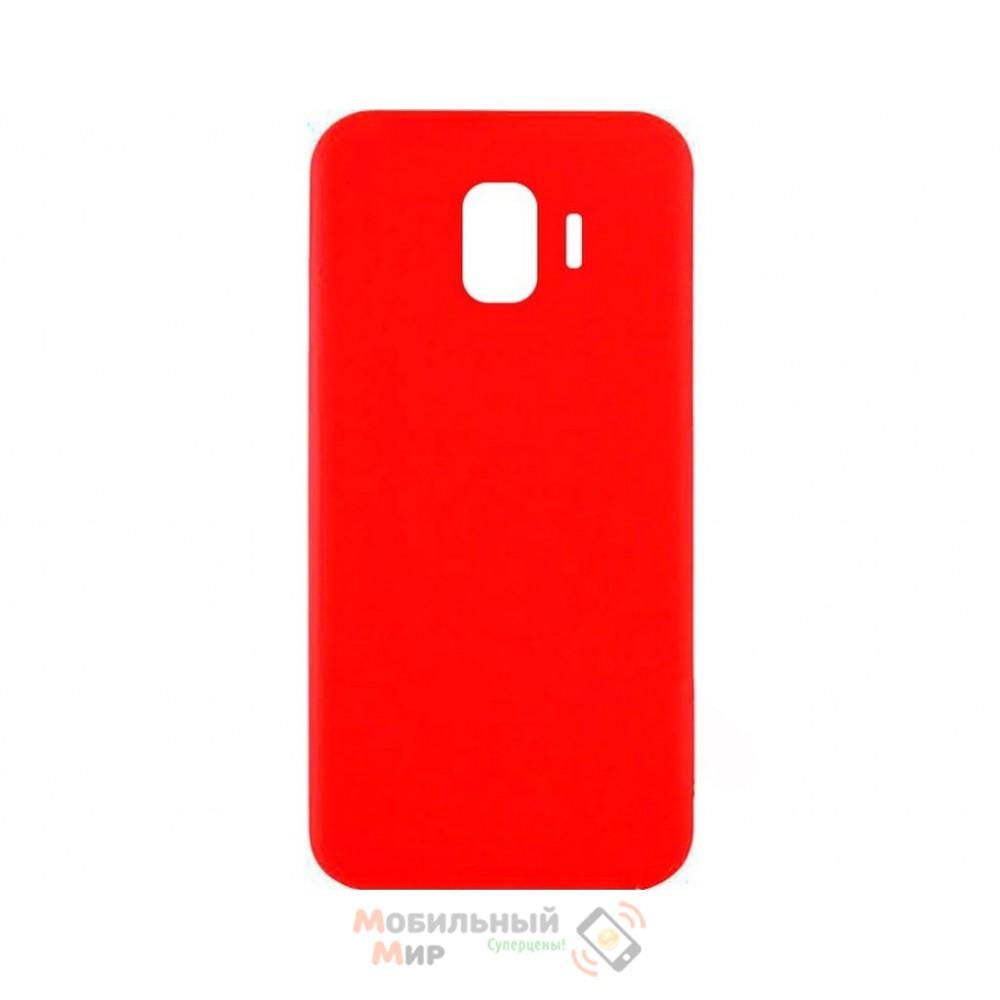 Силиконовая накладка iNavi Simple Color для Samsung J2 2018 J250 Red