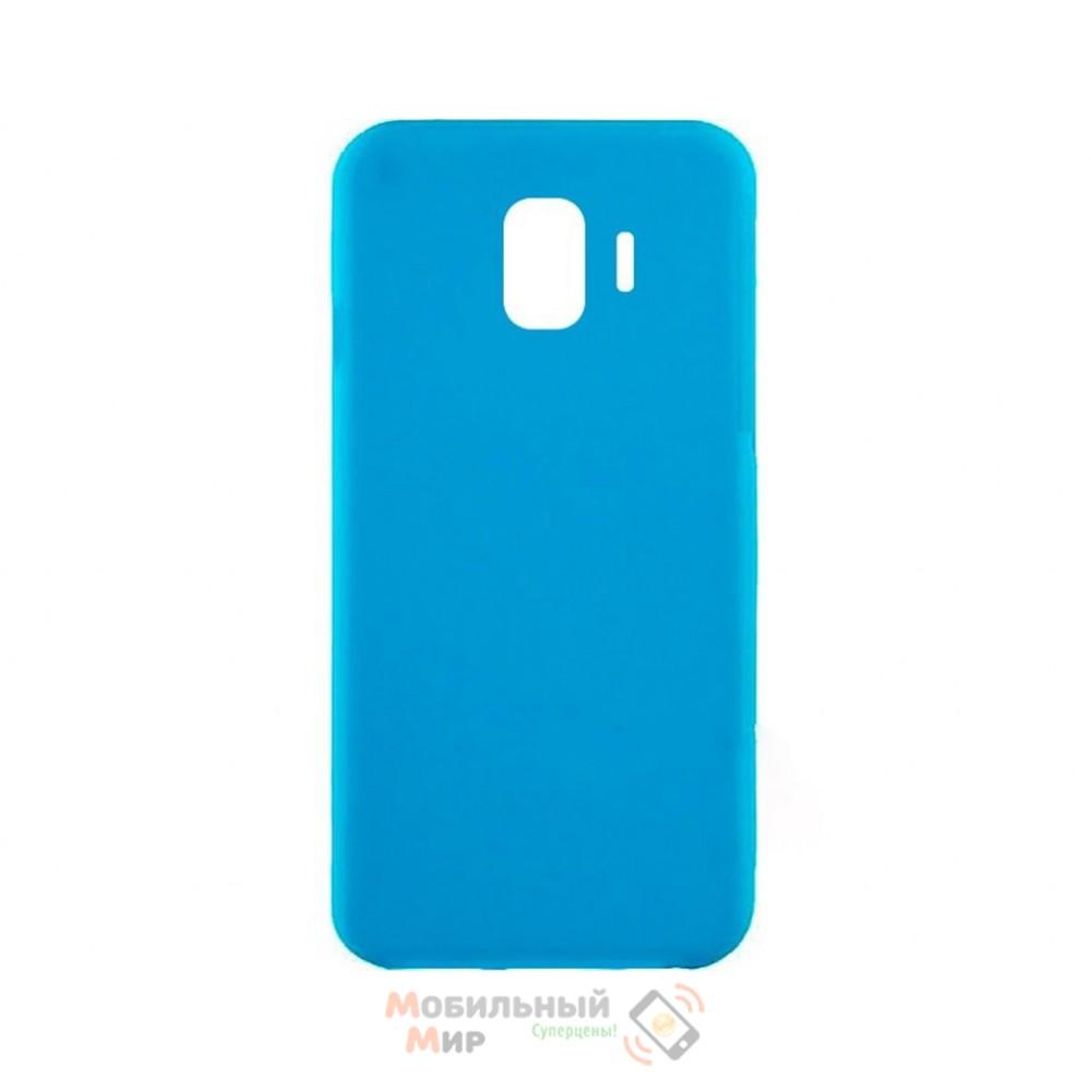 Силиконовая накладка iNavi Simple Color для Samsung J4 2018 J400 Blue