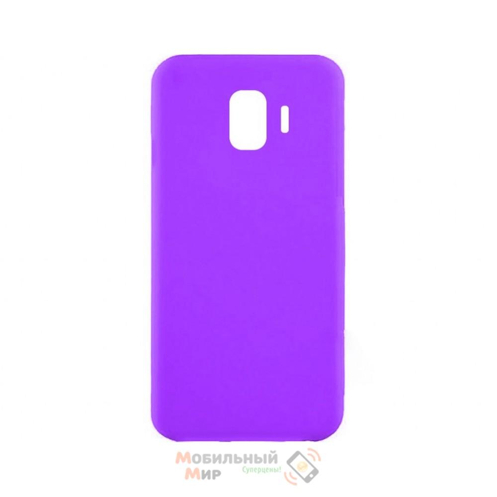 Силиконовая накладка iNavi Simple Color для Samsung J4 2018 J400 Lavender