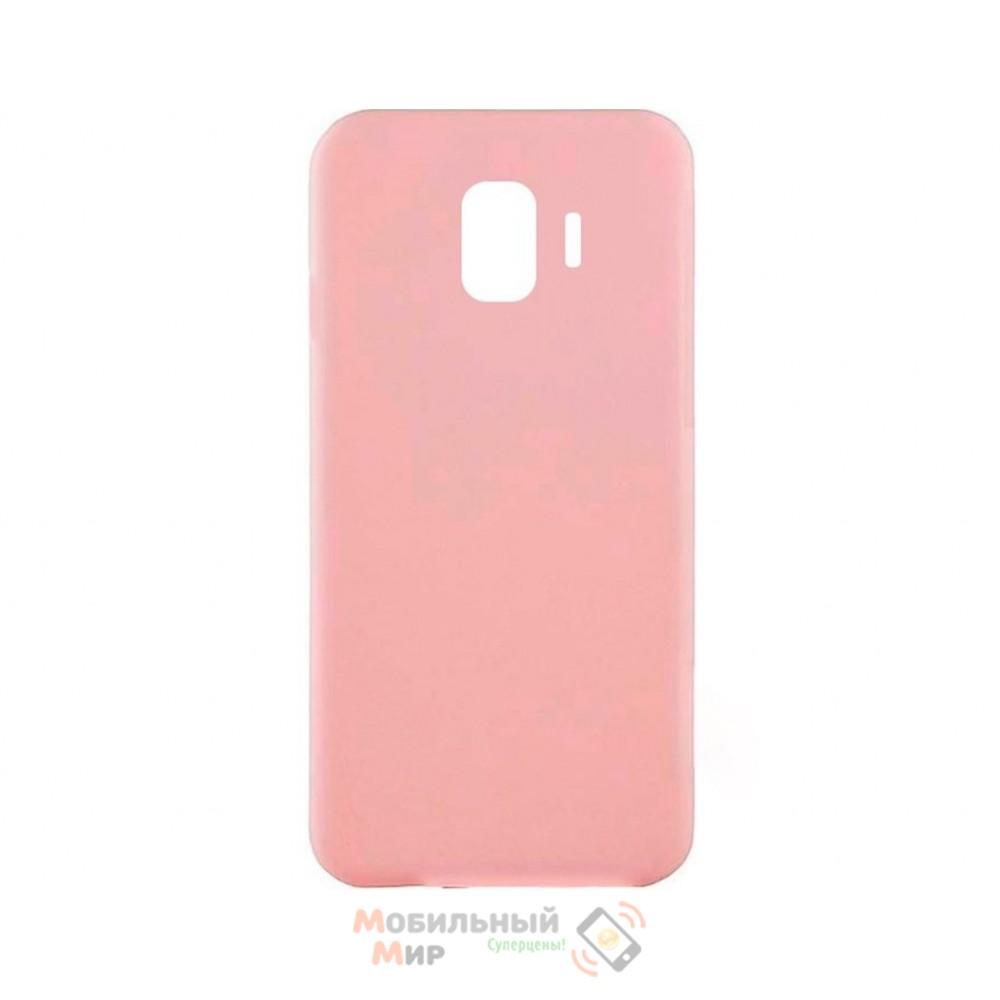 Силиконовая накладка iNavi Simple Color для Samsung J4 2018 J400 Peach