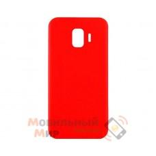 Силиконовая накладка iNavi Simple Color для Samsung J4 2018 J400 Red