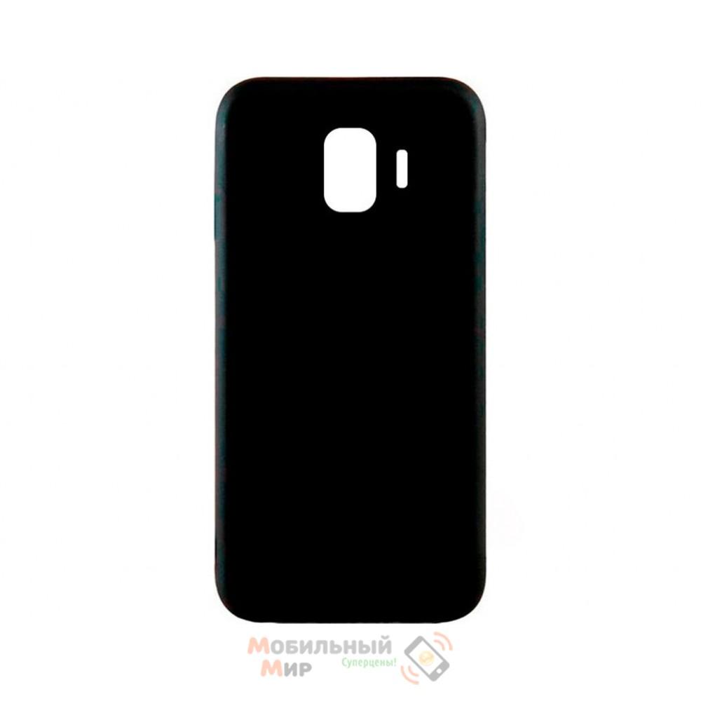 Силиконовая накладка iNavi Simple Color для Samsung J8 2018 J810 Black
