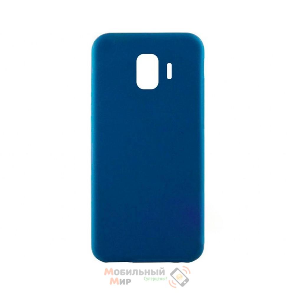 Силиконовая накладка iNavi Simple Color для Samsung J8 2018 J810 Midnight Blue