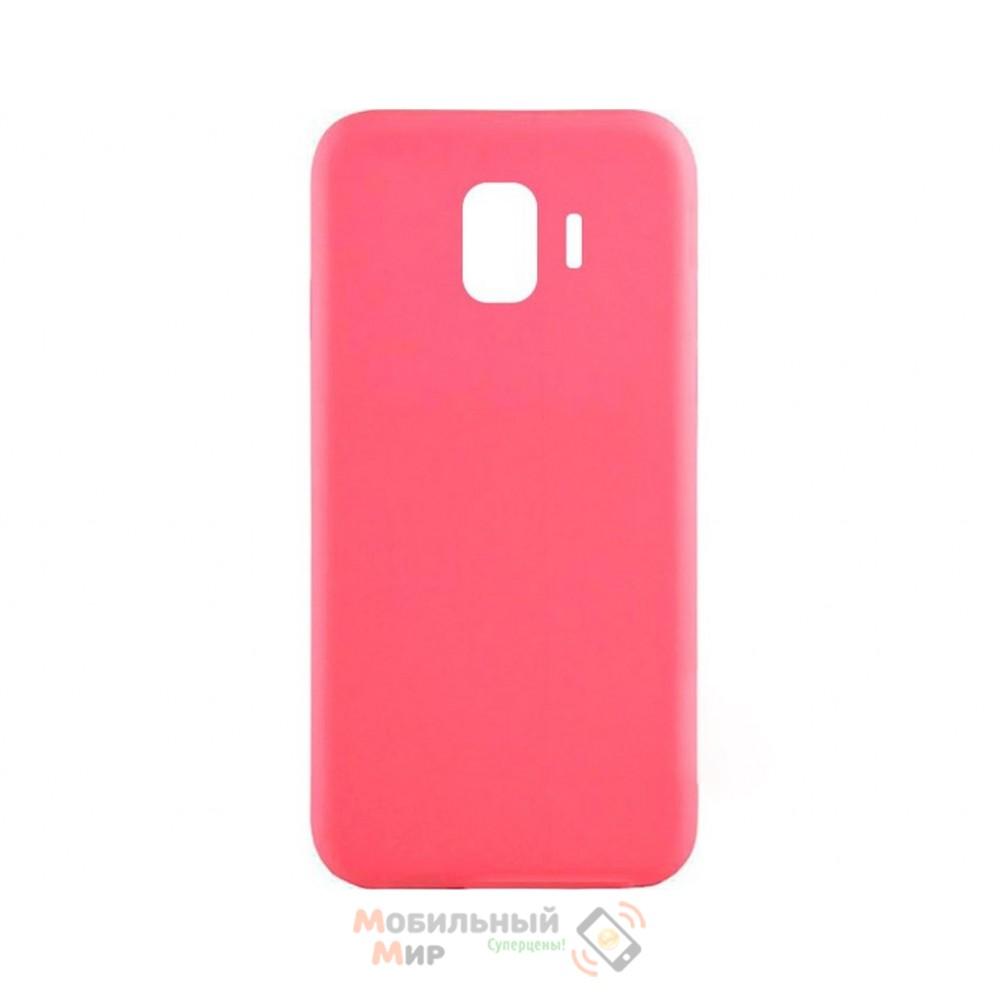 Силиконовая накладка iNavi Simple Color для Samsung J8 2018 J810 Pink