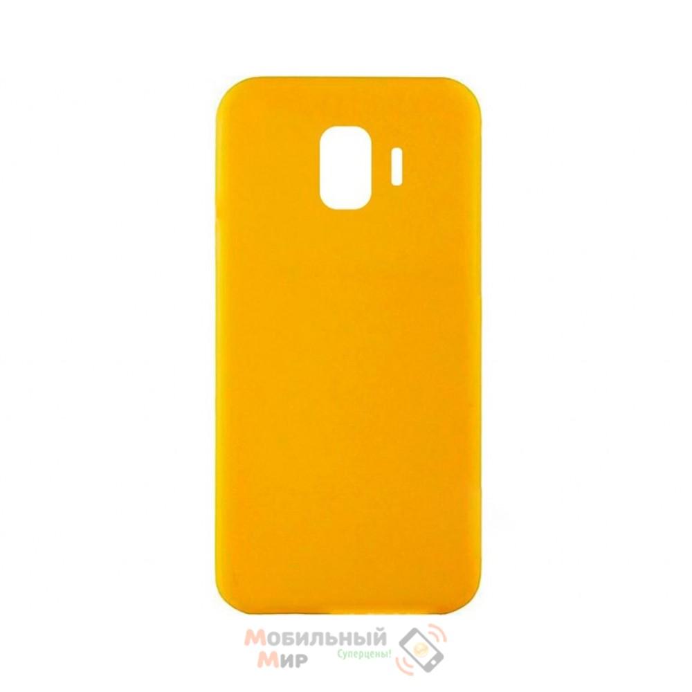Силиконовая накладка iNavi Simple Color для Samsung J8 2018 J810 Yellow