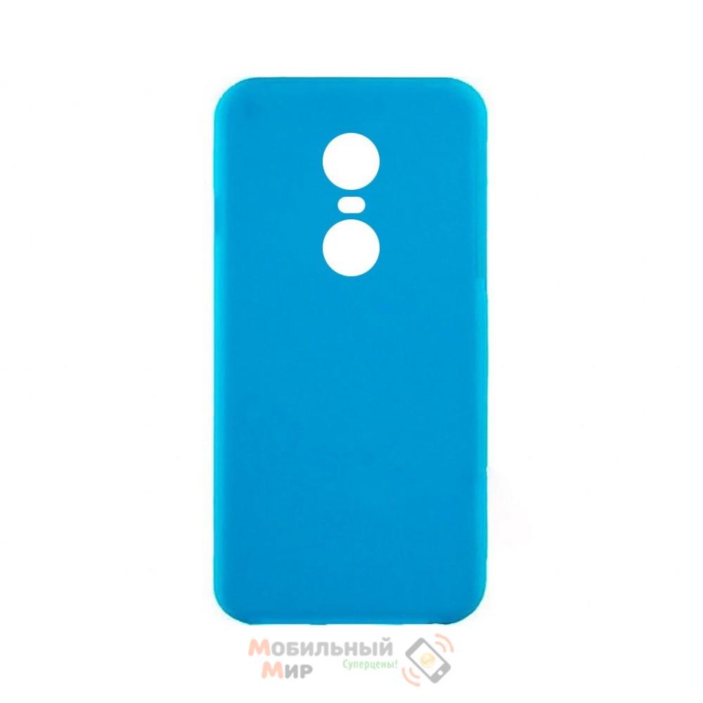 Силиконовая накладка iNavi Simple Color для Xiaomi Redmi 5 Plus Blue