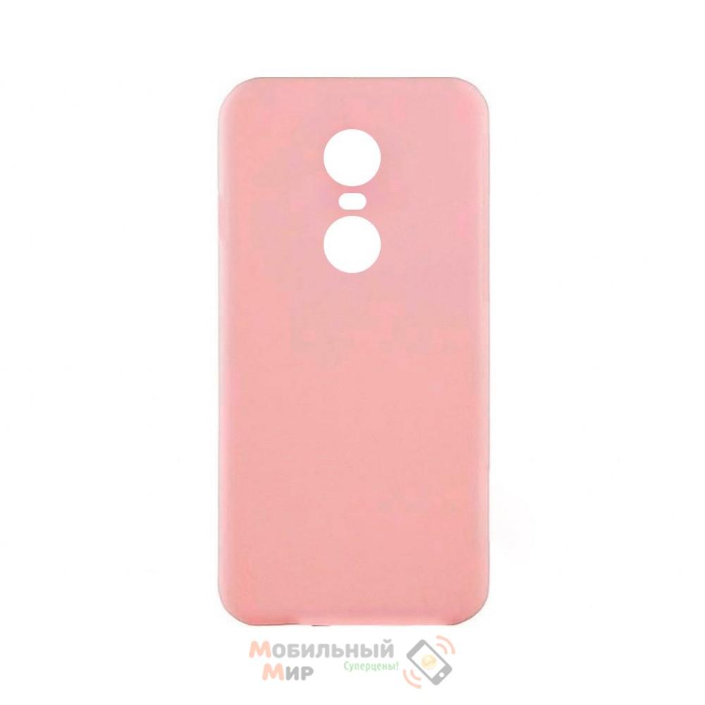 Силиконовая накладка iNavi Simple Color для Xiaomi Redmi 5 Plus Peach