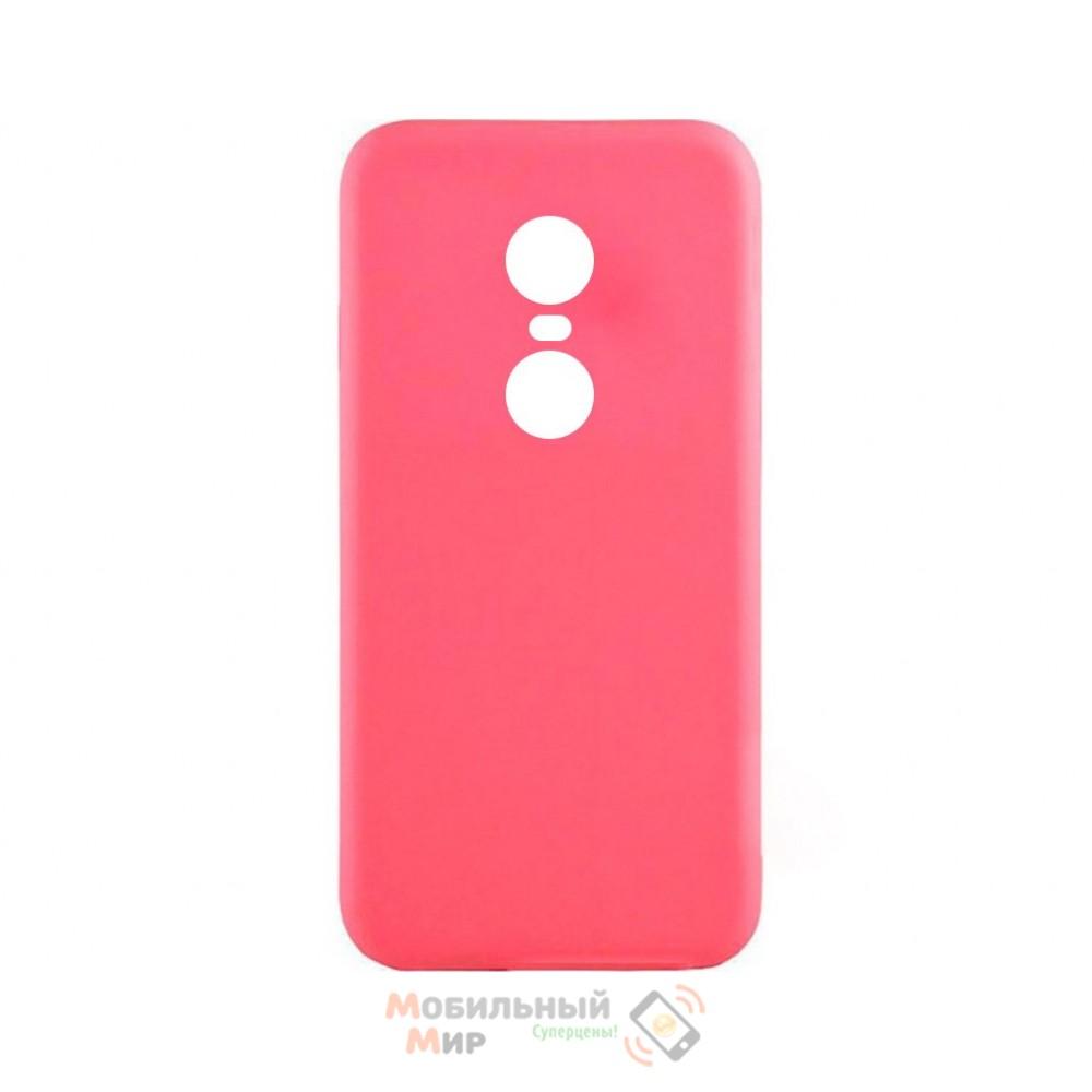 Силиконовая накладка iNavi Simple Color для Xiaomi Redmi 5 Plus Pink