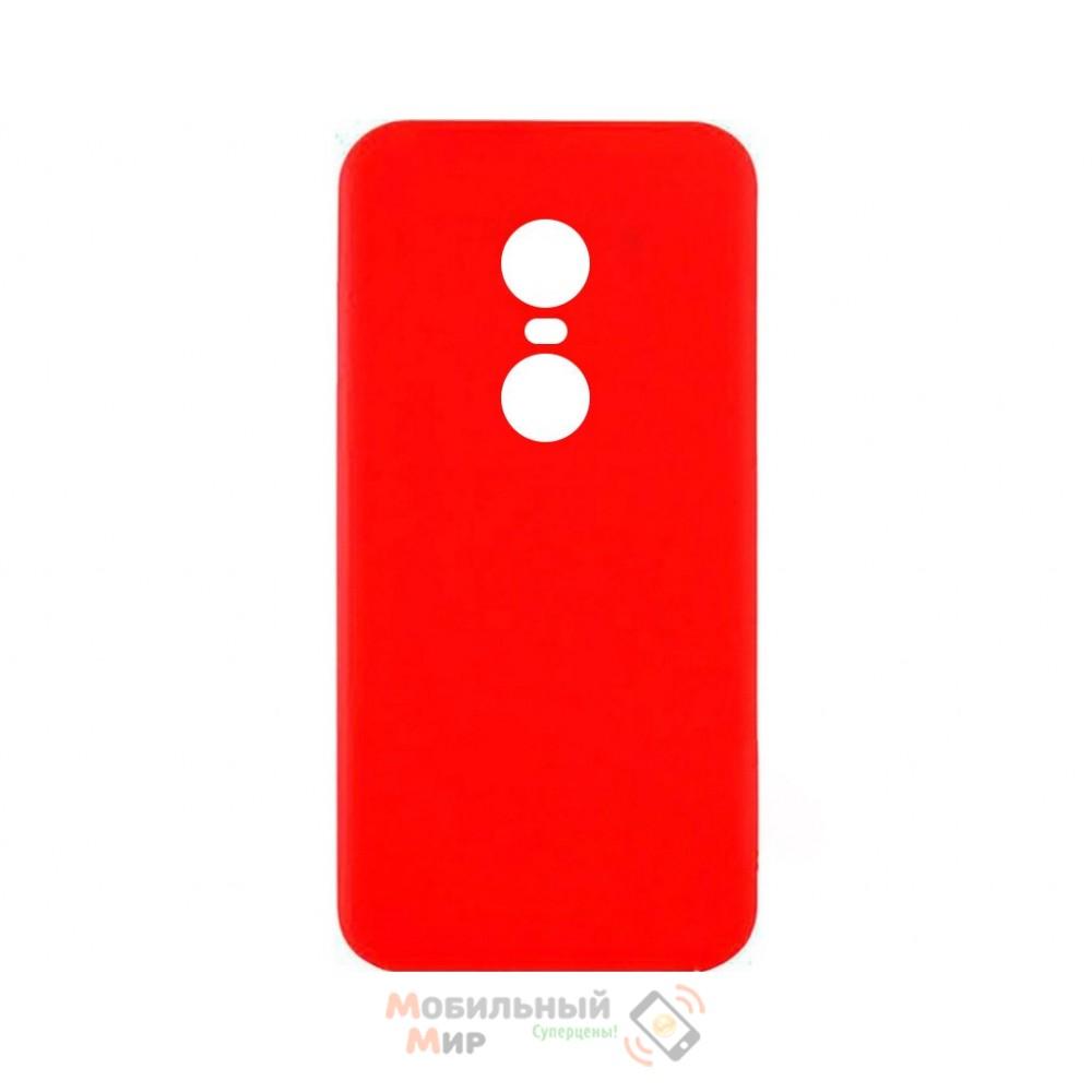 Силиконовая накладка iNavi Simple Color для Xiaomi Redmi 5 Plus Red
