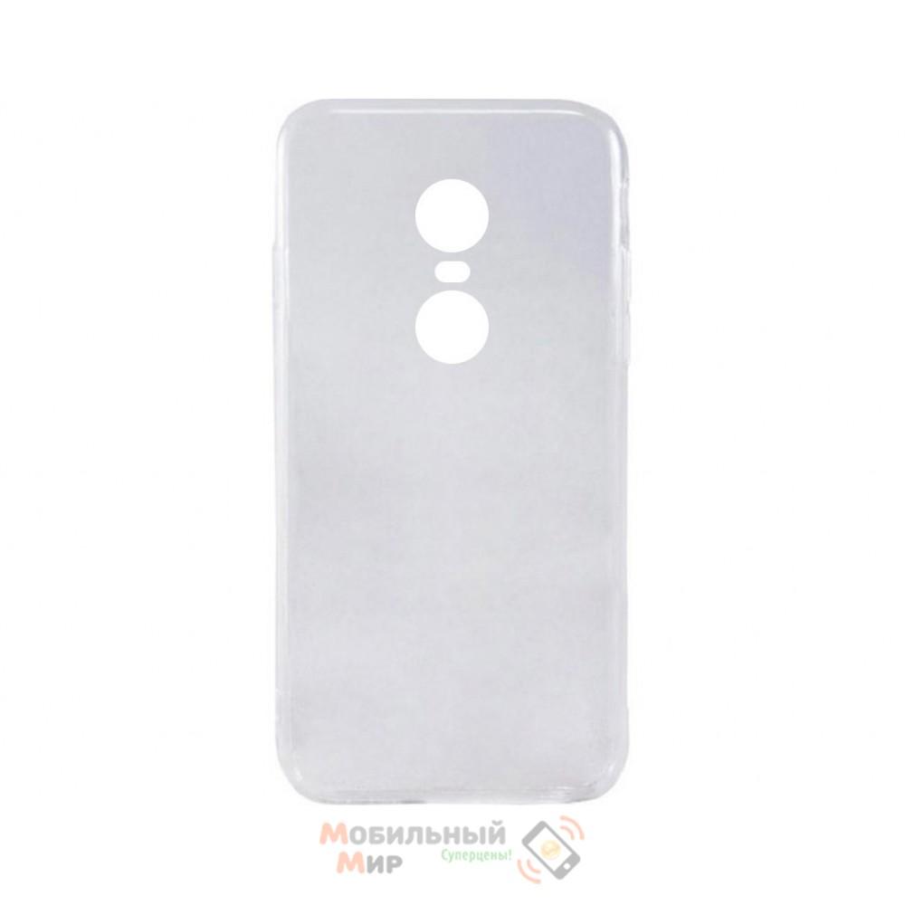 Силиконовая накладка iNavi Simple Color для Xiaomi Redmi 5 Plus Transparent