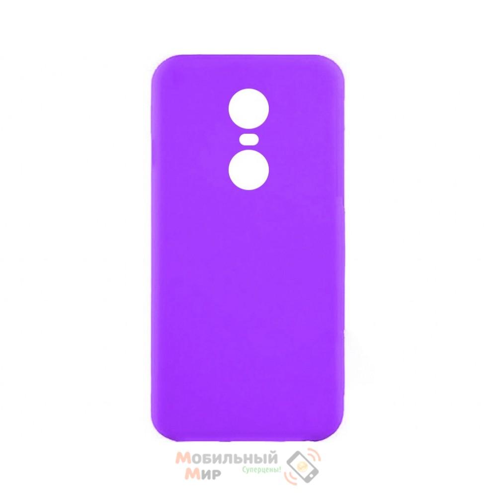 Силиконовая накладка iNavi Simple Color для Xiaomi Redmi 5 Plus Violet