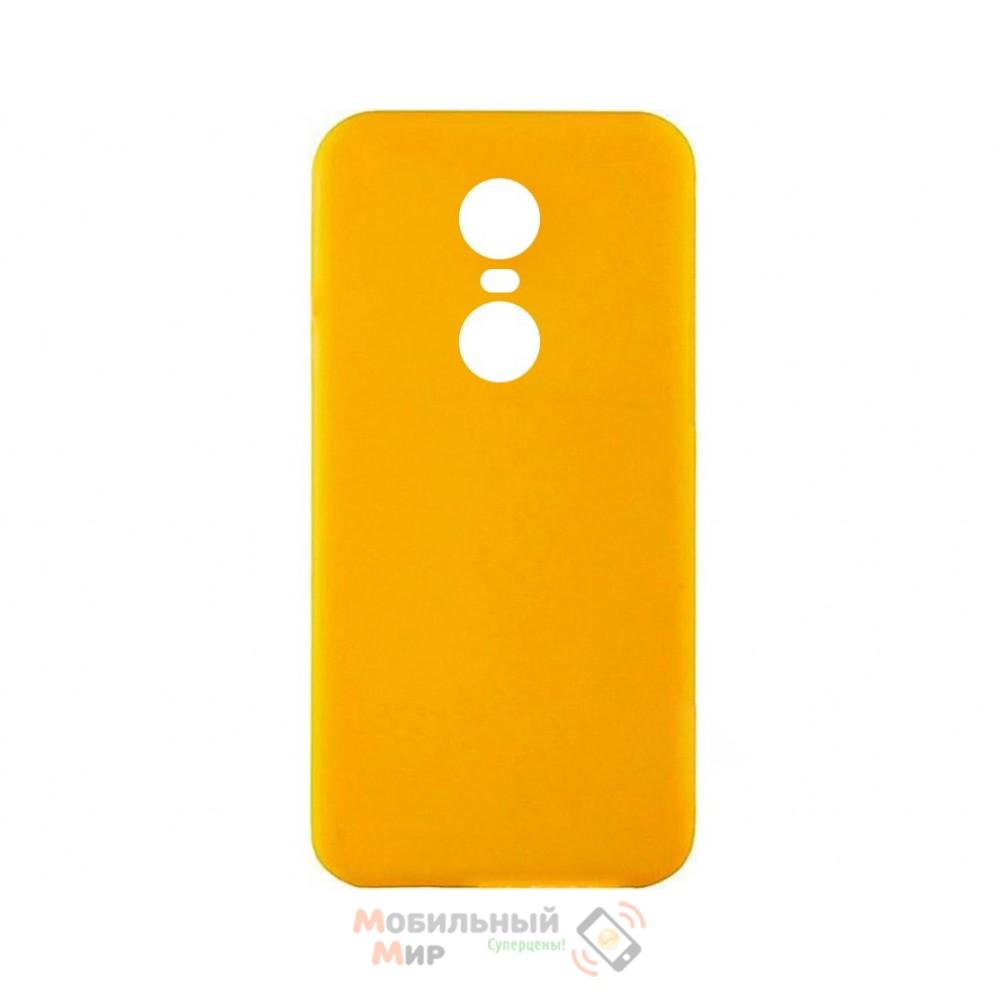 Силиконовая накладка iNavi Simple Color для Xiaomi Redmi 5 Plus Yellow