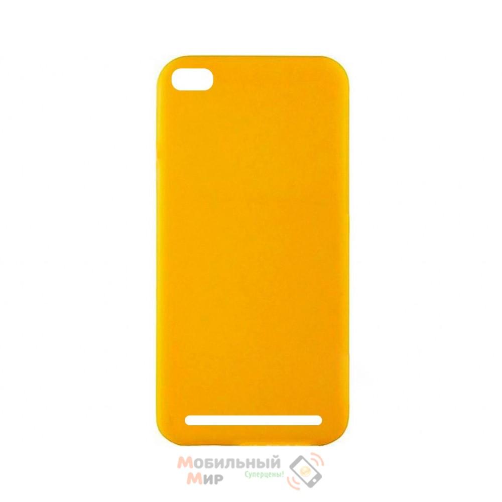 Силиконовая накладка Inavi Simple Color для Xiaomi Redmi 5A Yellow