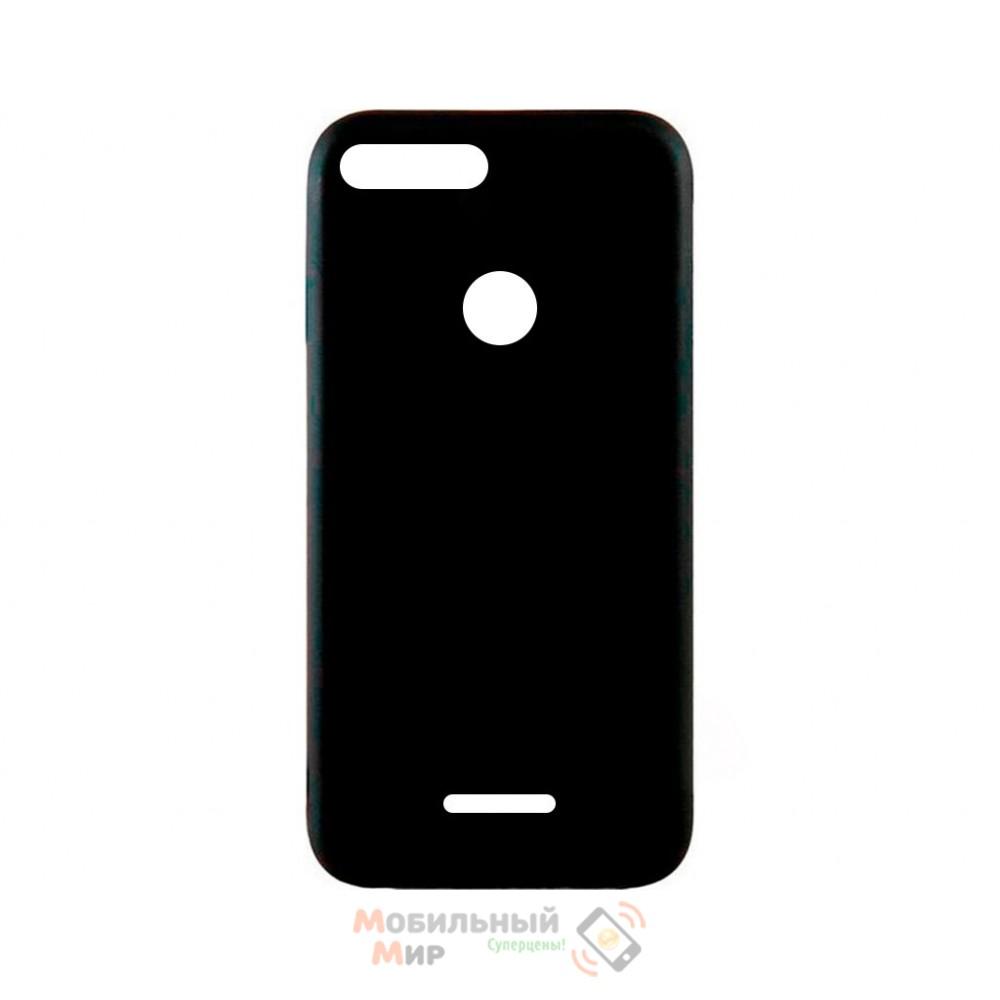 Силиконовая накладка iNavi Simple Color для Xiaomi Redmi 6 Black