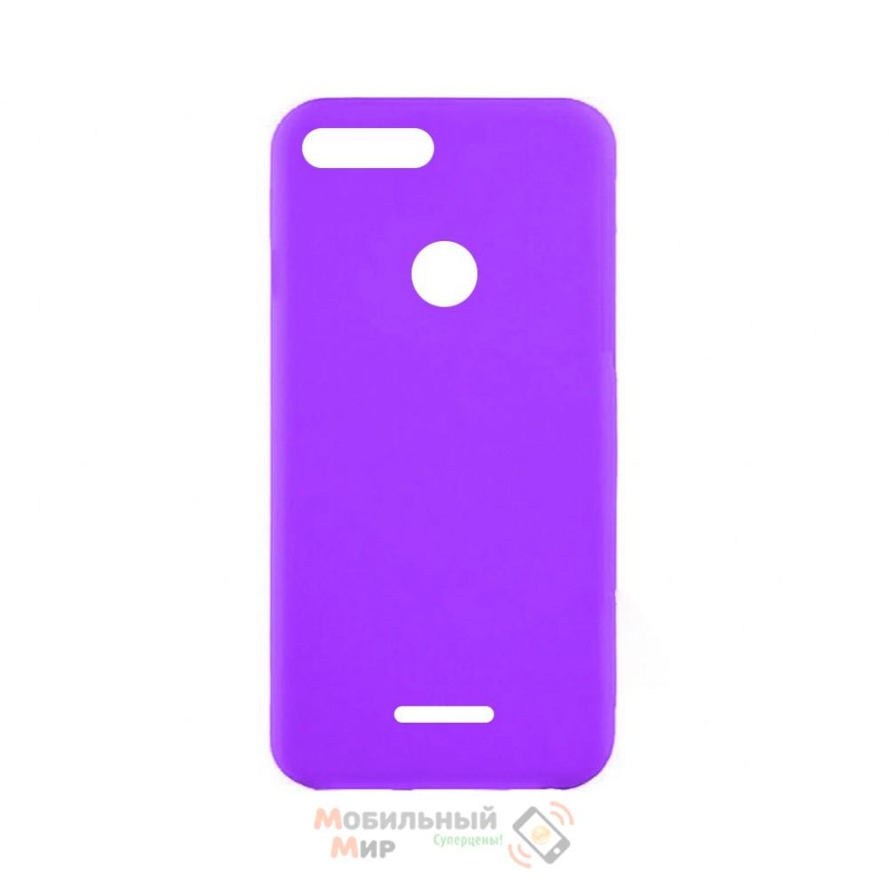 Силиконовая накладка iNavi Simple Color для Xiaomi Redmi 6 Lavender