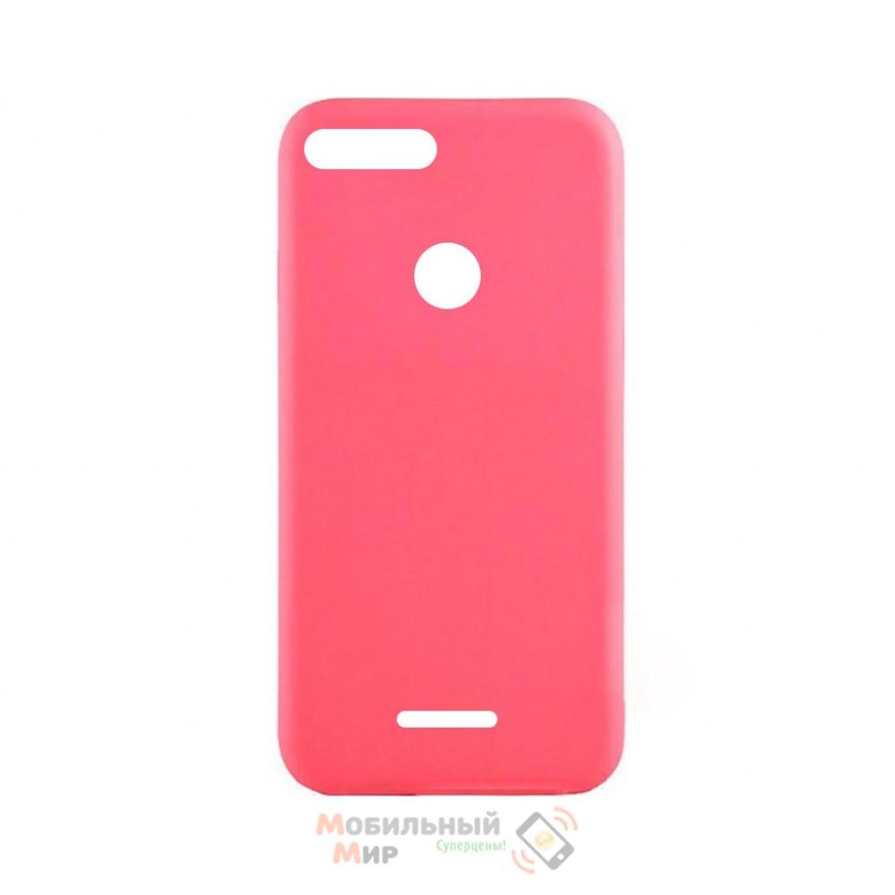 Силиконовая накладка iNavi Simple Color для Xiaomi Redmi 6 Pink