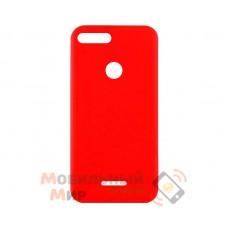 Силиконовая накладка iNavi Simple Color для Xiaomi Redmi 6 Red