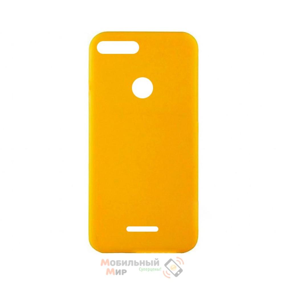 Силиконовая накладка iNavi Simple Color для Xiaomi Redmi 6 Yellow