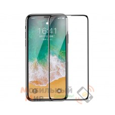Защитное стекло Baseus для iPhone X 0.2mm All-Screen Arc-Surface Anti-Bluelight Film Black (SGAPIPHX-HEB01)