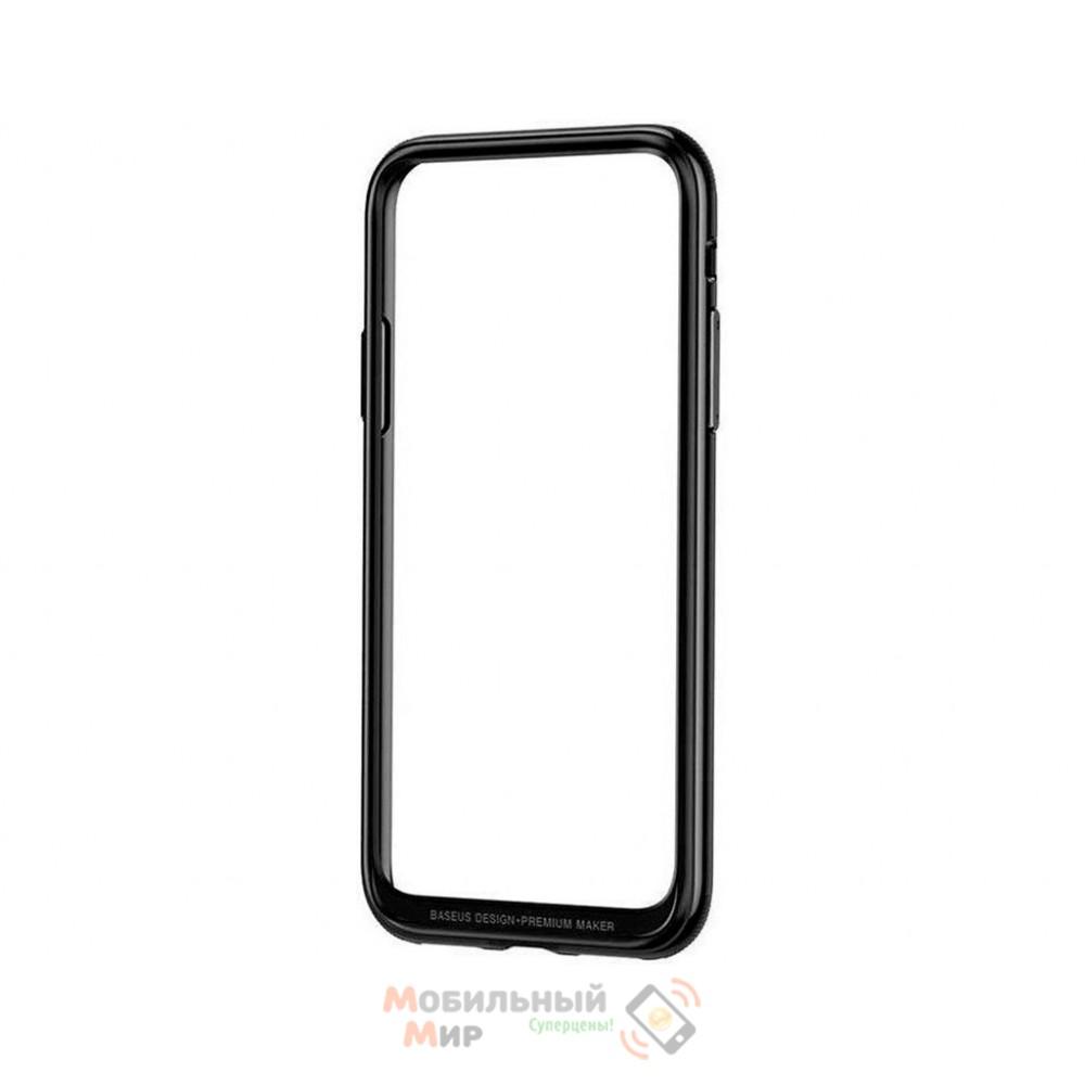 Чехол Baseus Platinum Metal Border для iPhone X/XS Black (FRAPIPHX-B01)