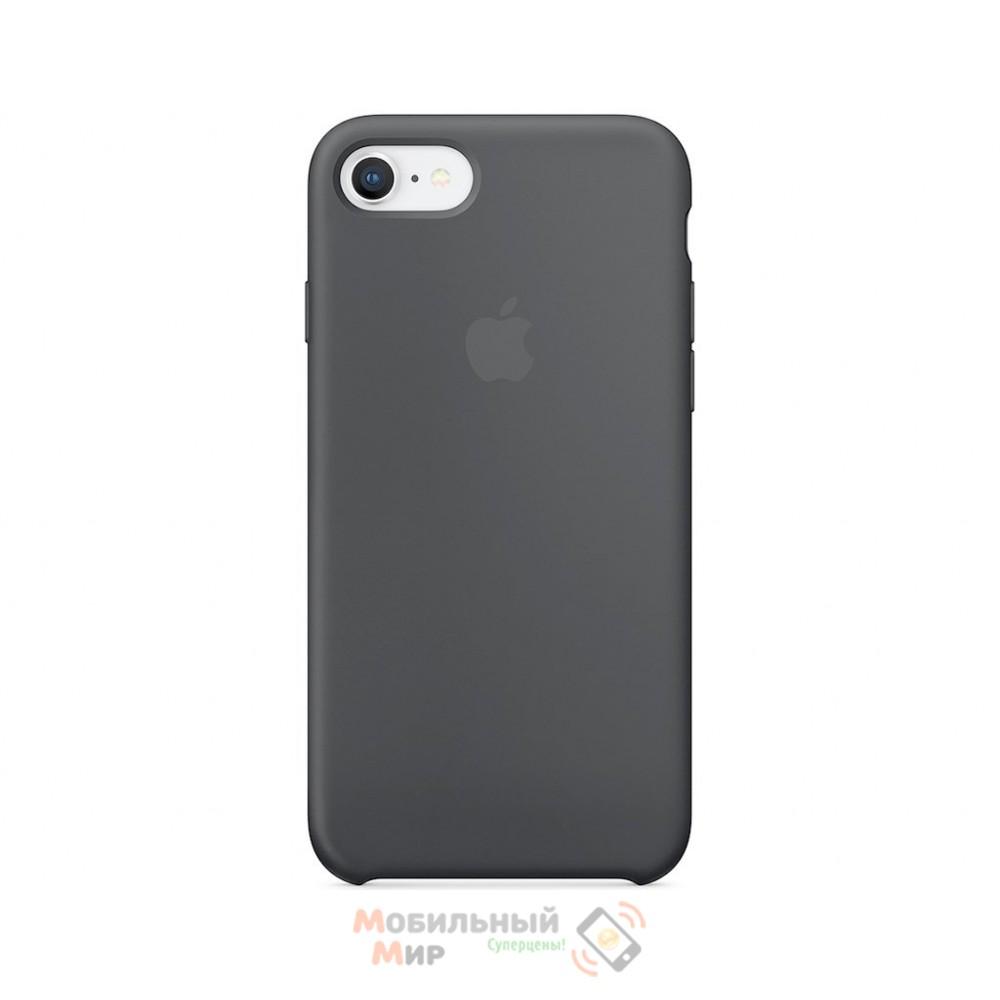 Силиконовая накладка для Apple iPhone 7/8 Silicone Case Grey