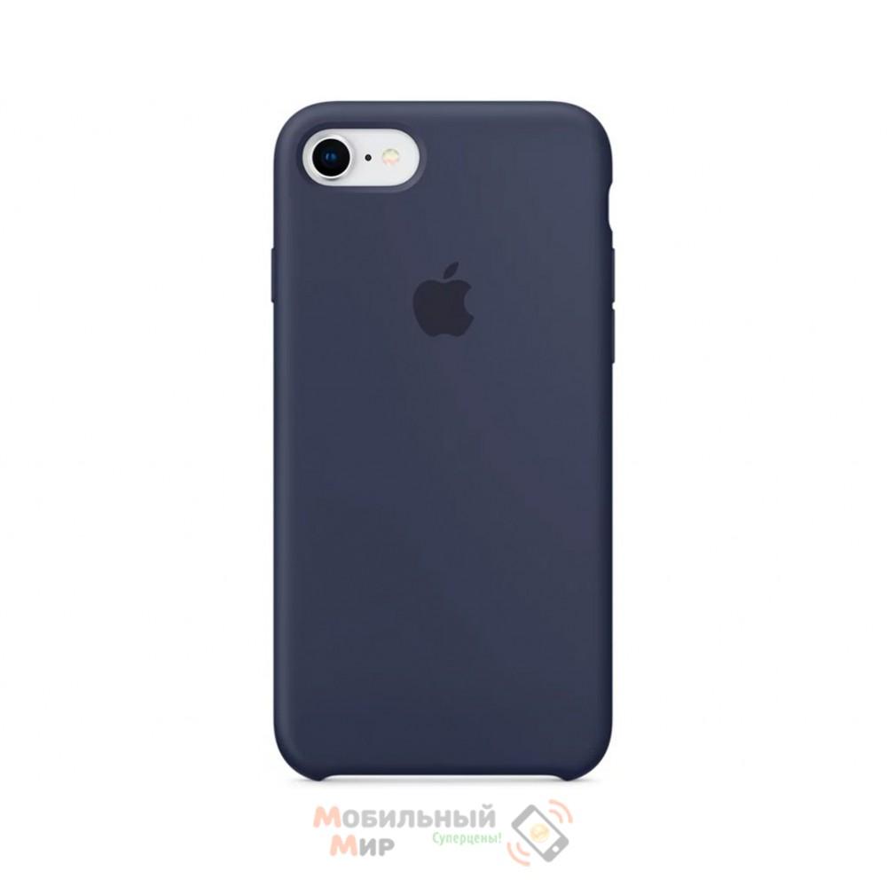 Силиконовая накладка для Apple iPhone 7/8 Silicone Case Midnight Blue