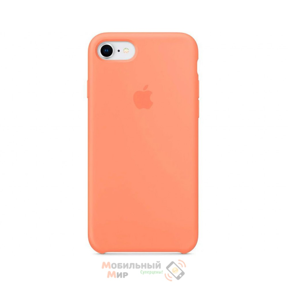 Силиконовая накладка для Apple iPhone 7/8 Silicone Case Peach