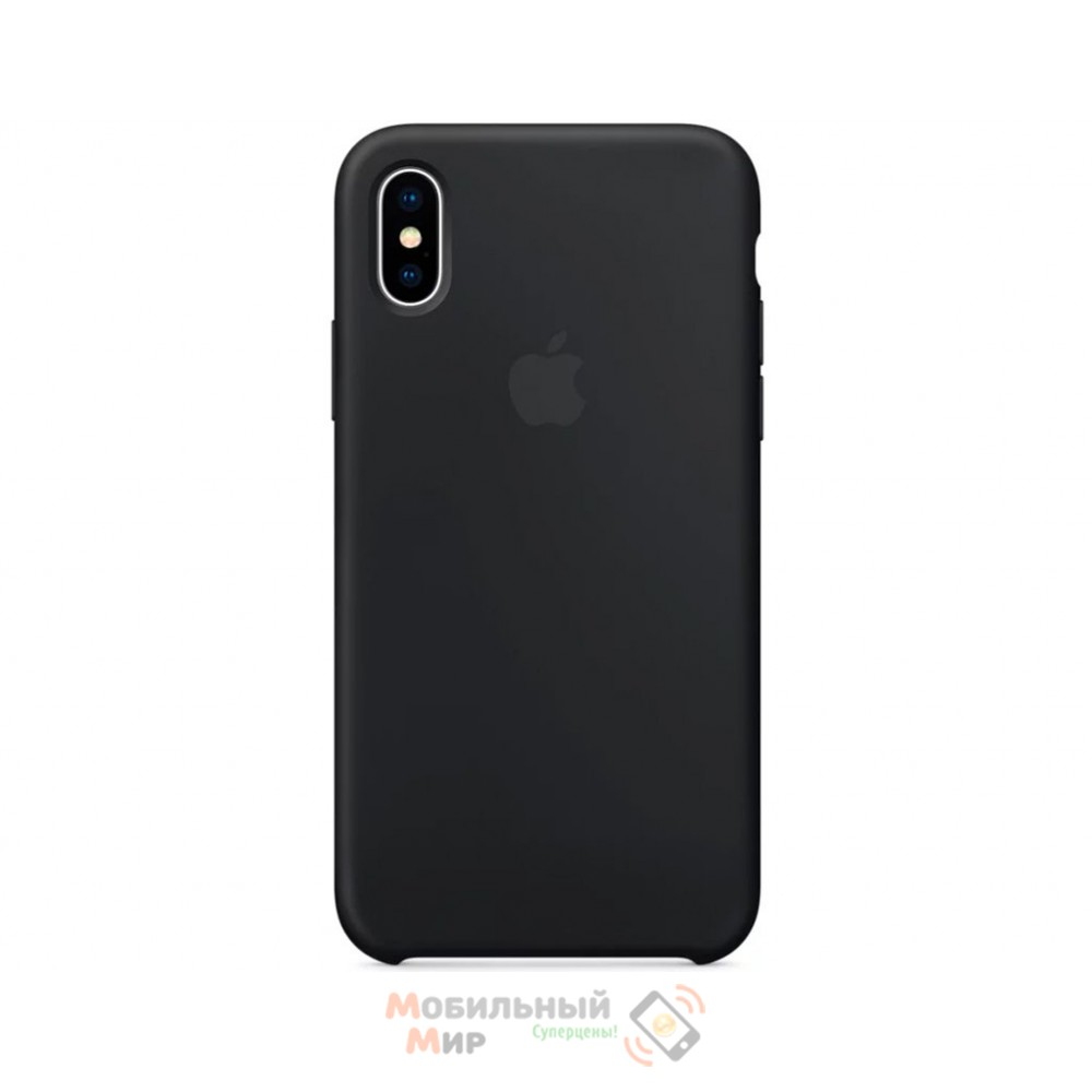 Силиконовая накладка для Apple iPhone X/XS Silicone Case Black
